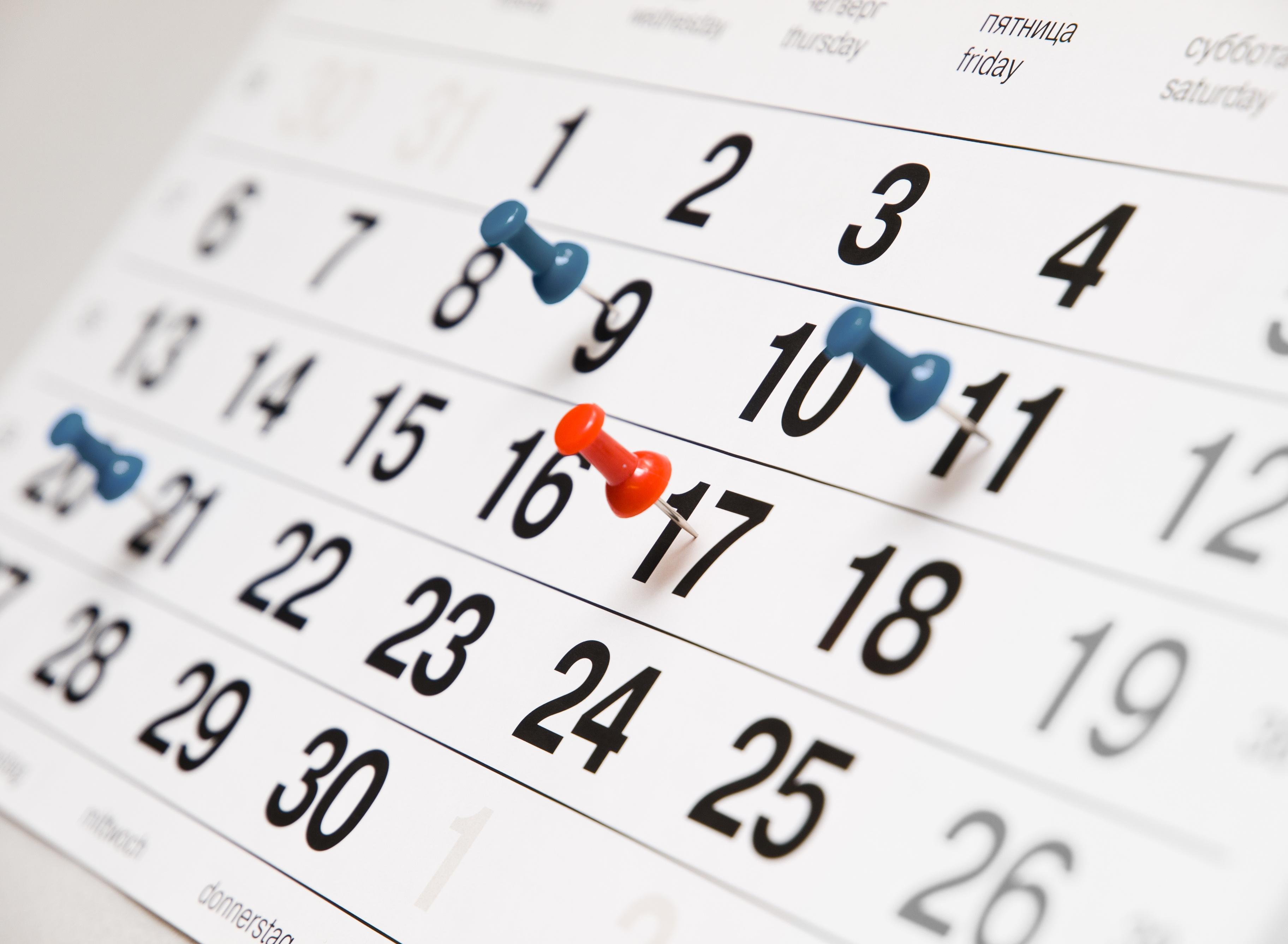 Die Termine für 2016 sind jetzt online verfügbar. Der Kalender kann ...